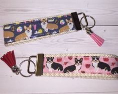 Etsy :: Your place to buy and sell all things handmade Lanyards, Gifts For Coworkers, Key Fobs, Key Chains, Fabric Patterns, Sale Items, Computer Mouse, Preppy, Create Yourself