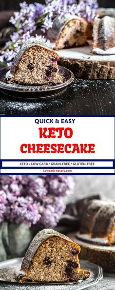 Keto Cake Recipe for all of us. This Farmers Cheese Keto Bundt Cake is a perfect summer cake to go with your morning coffee or taken for that Keto BBQ you have been planning. Fully Low Carb, Sugar-Free, Grain-Free, and Gluten-Free, this extra dense Keto Pound Cake with a hint of Blueberries will be the most popular one. Farmers Cheese Farmers Cheese. Sugar Free Recipes, Sweet Recipes, Keto Recipes, Cake Recipes, Dessert Recipes, Low Carb Granola, Farmers Cheese, Dried Blueberries, Eggnog Recipe