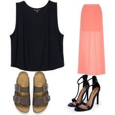 Untitled #219 by evanmonster on Polyvore featuring polyvore fashion style Yumi Birkenstock Boohoo