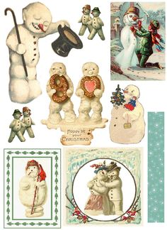 January Snowman Collage Challenge January Snowman Collage All of my favorite snowmen! For personal use only. Not for sale, not for inclusion on any digital media or collage sheets.This sheet is Betsy Niederer Christmas Images, Christmas Snowman, All Things Christmas, Vintage Christmas, Christmas Holidays, Christmas Decorations, Images Vintage, Vintage Cards, Party Vintage