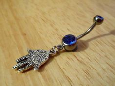 Belly Button Ring - Body Jewelry - Hamsa Hand Belly button ring on Etsy, $12.00
