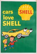 Original Vintage 1960 Advertising Poster, Bright And Colourful - Cars Love Shell Retro Poster, Poster Ads, Car Posters, Retro Ads, Vintage Advertising Posters, Old Advertisements, Vintage Posters, Food Advertising, Pub Vintage