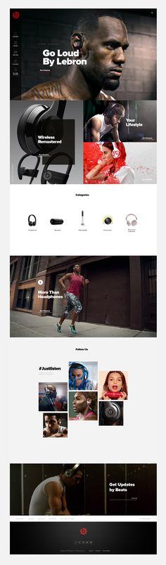 Concept experimental design project for Beats by Dre website. Website Layout, Web Layout, Website Web, Web Design Studio, App Design, User Experience Design, Beats By Dre, Ui Web, Web Design Trends