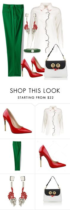 """""""Face to face"""" by glamheartcafe ❤ liked on Polyvore featuring Lands' End, Marni, J.W. Anderson and Adolfo Courrier"""