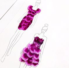 Grace ciao flower petal fashion illustration