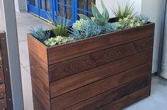 Front Yard Planters, Cedar Planters, Wood Planter Box, Wooden Planters, Privacy Planter, Commercial Planters, Rectangular Planters, Plant Box, Fiberglass Planters