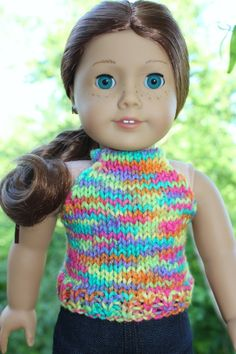 American Girl Doll Clothes - knit halter top