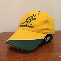 96101567abe3c Wallabies Australia Rugby Supporters World Cup Yellow Green Adult Unisex  Cap Hat