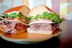 Munch Ado - Powering Up Restaurants Online Homemade Horseradish, Deli Sandwiches, Roast Beef Sandwiches, Sliced Roast Beef, Asiago Cheese, Bakery, Restaurant, Lettuce