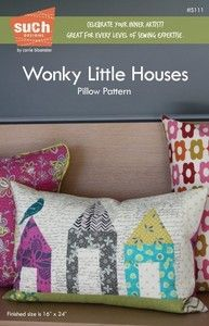 Wonky Little Houses PILLOW pattern by SUCH Designs