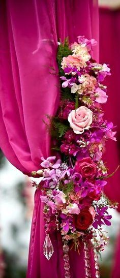 Wedding ● Reception Décor ● Vibrant Fuchsia