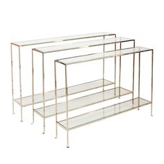 Small nickel plated console