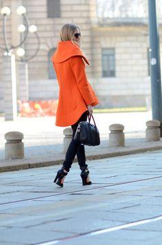 orange scuba coat