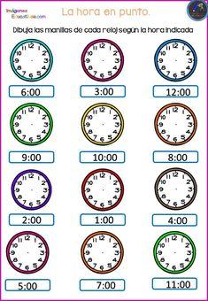 Worksheet for grade 4 Kindergarten Math Worksheets, Phonics Worksheets, Teaching Activities, Teaching Math, Math Clock, Math Charts, Flashcards For Kids, Math Notebooks, 1st Grade Math