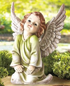 Add a bit of serenity to your outdoor decor with the Angelic Garden Statue. This intricately detailed cherub is a lovely addition to anyoutdoor or memoria