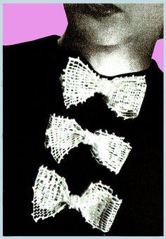 Items similar to PDF Vintage Womens Ladies Pussy Bow Crochet Pattern Lolita Bow Brooch Accessory Mod Kitsch Sex Kitten Baby Doll Ingenue Preppy BARDOT on Etsy Easy Knitting, Knitting Patterns, Crochet Patterns, Filet Crochet, Knit Crochet, Scooter Girl, Retro Clothing, Skater Girls, Vintage Knitting