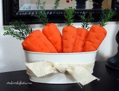 Darling Fabric Carrots via @Kara Cook (Creations by Kara)
