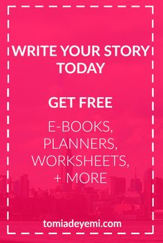 Want access to a FREE LIBRARY of exclusive writing resources? Click here to get ebooks, worksheets, planners & more just for writers + creatives!