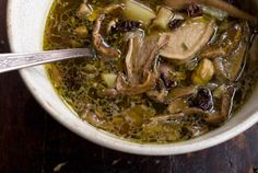 Boosting Your Immunity: Mushroom Soup with Herbs