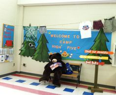 An awesome Camp High Five display for the Durant Elementary Boosterthon!