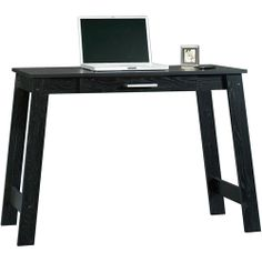 Mainstays Writing Table, Ebony Ash- $40 at walmart. Perfect for the closet office