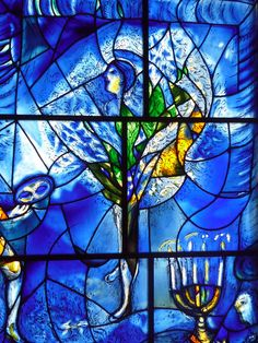 How two thirty-plus year old souvenir tapestries from Israel took me on a journey through modern art and revealed the magic of Marc Chagall. Marc Chagall, Modern Stained Glass, Stained Glass Art, Stained Glass Windows, Chagall Windows, Chagall Paintings, Jewish Art, Art Institute Of Chicago, Menorah