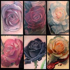 Super Realism  Ask for flowers like these next Valentine's Day. By InkAddict sponsored artist Phil Garcia. Check out more of his work at http://www.inkphiller.com/.