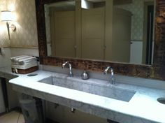 Extra wide undermount bathroom sink for large areas