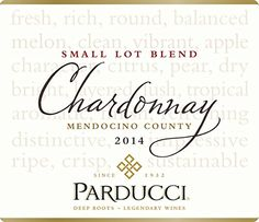 2014 Parducci Small Lot Blend Chardonnay Mendocino County 750 mL Wine *** Find out more about the great product at the image link.