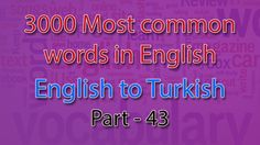 English to Turkish | 2101-2150 Most Common Words in English | Words Star...
