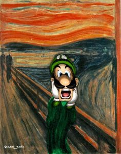 Edvard Munch, Scream Parody, Mystery Photos, World Famous Paintings, Famous Artists, Le Cri, Expressionist Artists, Bad Art, Danganronpa Memes