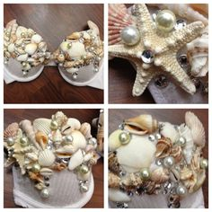 Seashell Mermaid Bra 36C by ravingbeautydesigns on Etsy