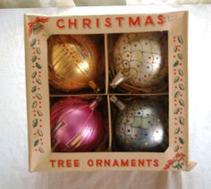 Vintage Christmas Ornaments!