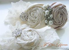 Bridal Garter Set Ruffles and Lace Design 2 by TheChicaBoutique, $70.00