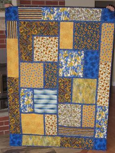 """""""The Big Block Quilt Pattern"""", designed by Minay Studios from Black Cat Creations"""