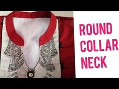 Very beautiful and latest round collar neck design Chudidhar Neck Designs, Neck Designs For Suits, Dress Neck Designs, Sleeve Designs, Blouse Designs, Collar Kurti Design, Kurta Neck Design, Sewing Collars, Sewing Shirts