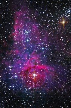 A different view of the well-known emission nebula, Eta Carinae