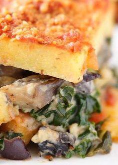 Vegan Polenta Lasagna With Kale And Mushrooms