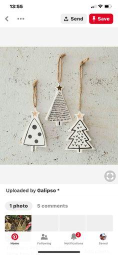 Drop Earrings, Christmas, Jewelry, Ceramic Jewelry, Xmas, Jewlery, Bijoux, Schmuck, Drop Earring