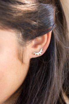 Sun Ray Ear Pin Earrings by Lovoda on Etsy in GOLD
