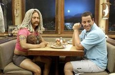 Adam Sandler and Rob Schneider in 50 First Dates 50 First Dates, Adam Sandler, Movies Showing, Movies And Tv Shows, Rob Schneider, Memes Of The Day, Ex Girlfriends, Good Movies, Greatest Movies
