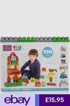 FIRST BUILDERS SET MEGA BLOCKS 900 LEARN MY COULORS PLAYSET EDUCATION TOY
