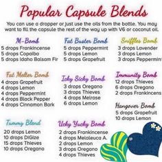 Popular Capsule Blends: M-Bomb, Fat Buster Bomb, Sniffles Bomb, Fat Melter Bomb, Icky Sicky Bomb, Immunity Bomb, Tummy Blend, Ucky Yucky Bomb, Hangover Bomb.