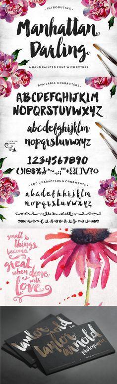 Manhattan Darling Typeface + BONUS by MakeMediaCo. on Creative Market