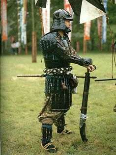 Samurai Reenactor Medieval Warrior, a fantasy played out at festivals across Japan every year as towns pay homage to the dramatic history of the samurai.