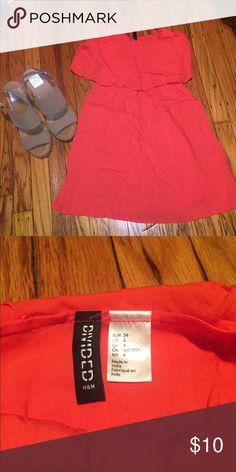 H&M Dress Orange H&M dress, size 4. Worn once. Runs small. H&M Dresses Midi