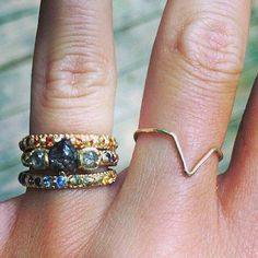Polly Wales rings and Wwake on the right.