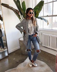 "JULIE SARIÑANA on Instagram: ""Quick office meeting! ⚡️ wearing @shop_sincerelyjules Merci Cara sweatshirt. Shopsincerelyjules.com"""