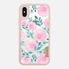 Casetify iPhone X Classic Grip Case - Pink floral pattern by Psychae Girly Phone Cases, Phone Covers, Iphone Cases, Iphone 10, Tech Accessories, Casetify, Iphone Wallpaper, Classic, Floral