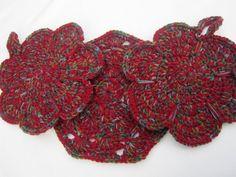Crocheted Pot Holders Flowers Trivets by crochetedbycharlene, $24.00